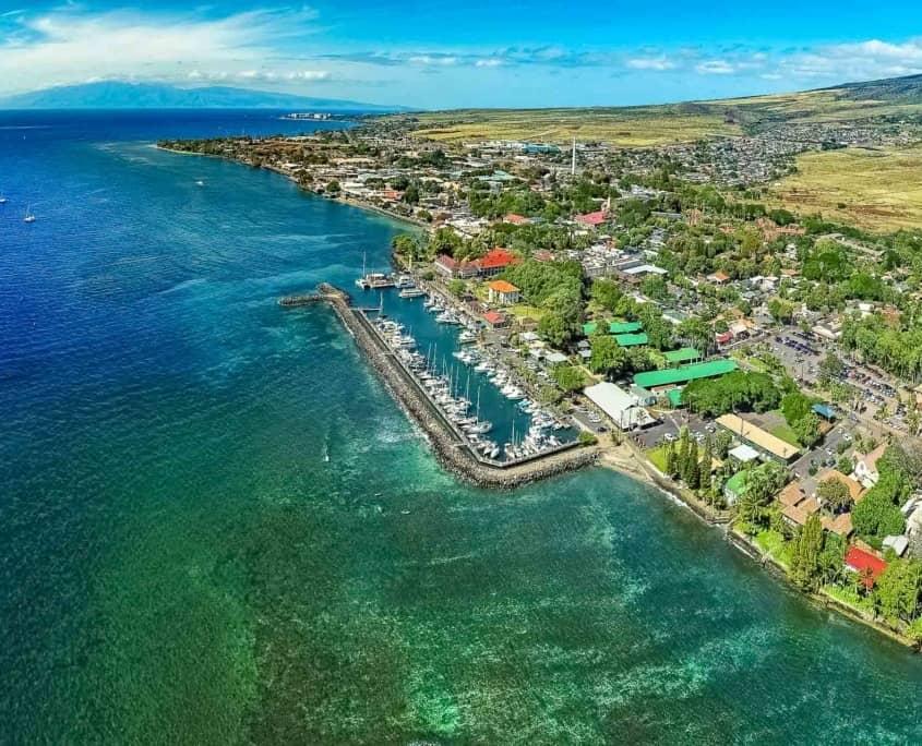 Lahaina Harbor Aerial Ocean Reef Maui