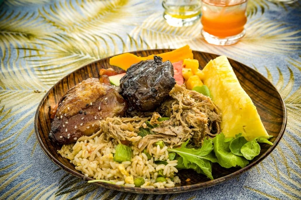 Luau Hawaii Food Plate