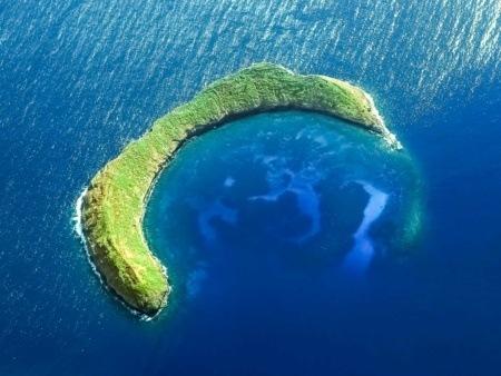 Molokini Crater Aerial Reef Ocean Maui shutterstock