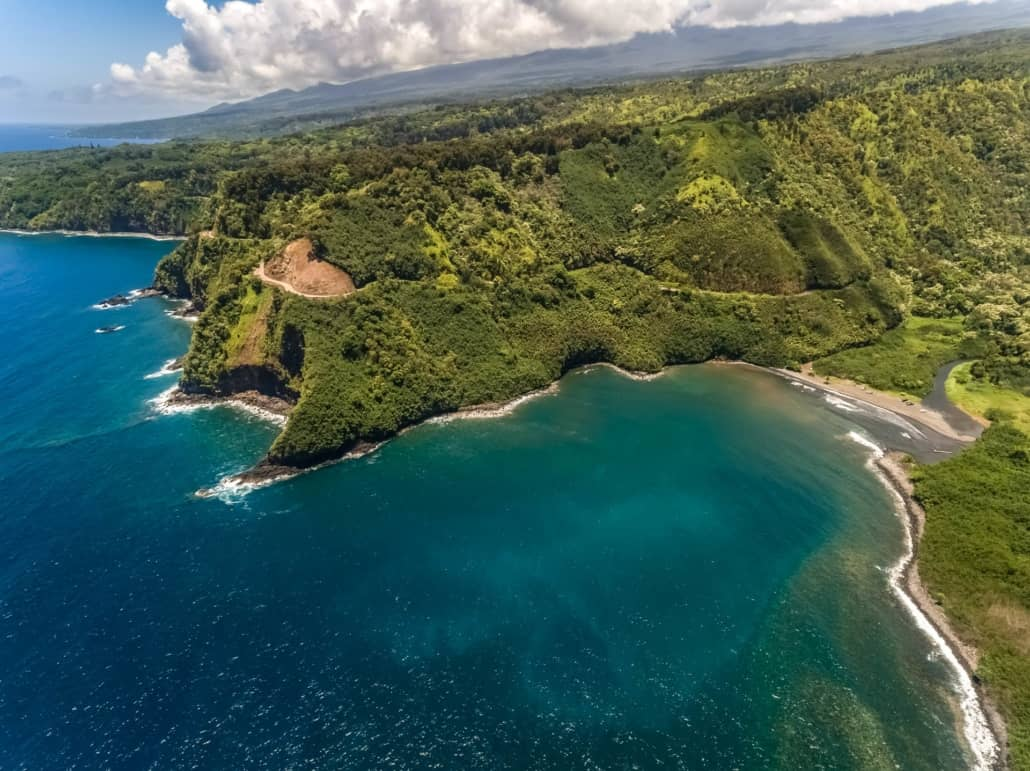 Road to Hana Maui Aerial Helicopter Honomanu Bay