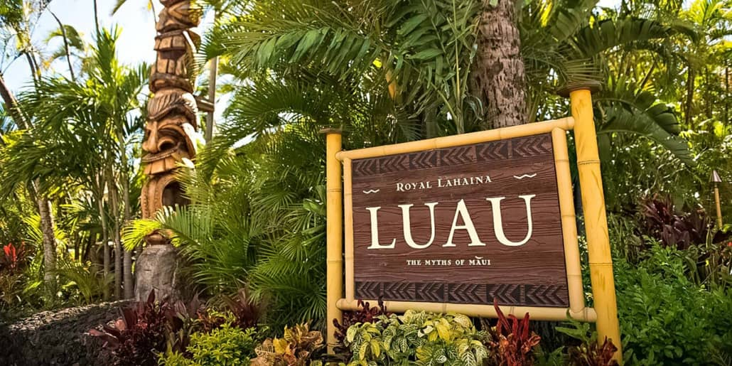 RoyalLahaina Luau Sign Maui