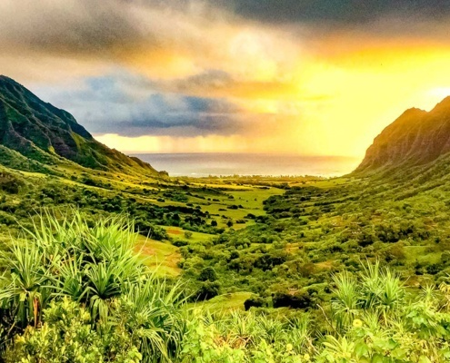 Sunrise saddle Kaaawa Oahu Kualoa Ranch photo