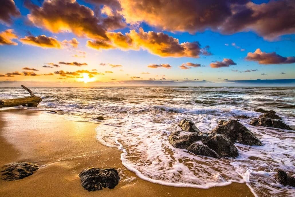 Sunset at Beach North Shore Kauai shutterstock