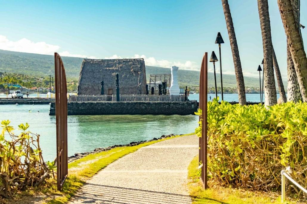 Kailua Pier Path to Ahu'ena Heiau Kona Big Island