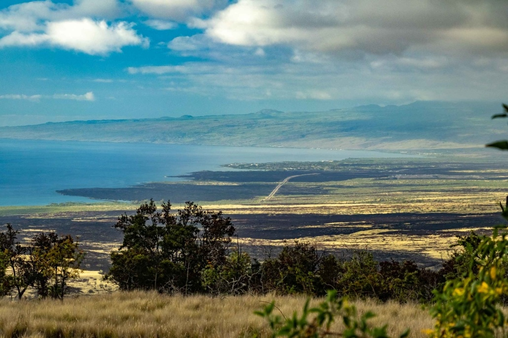 Kohala Coastal View Lava Flows and Road Big Island