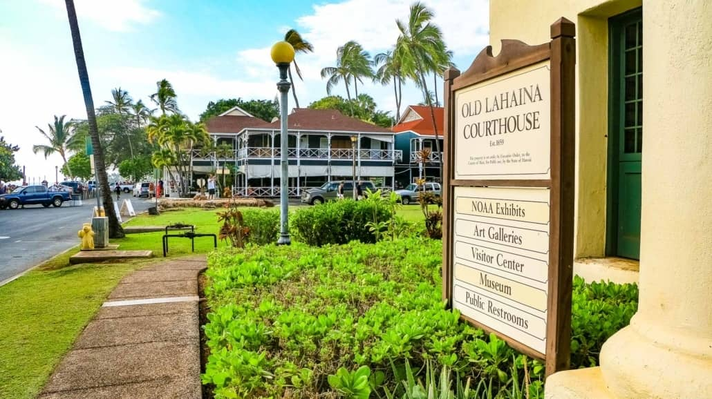 Lahaina Courthouse and Pioneer Inn Front Street Maui