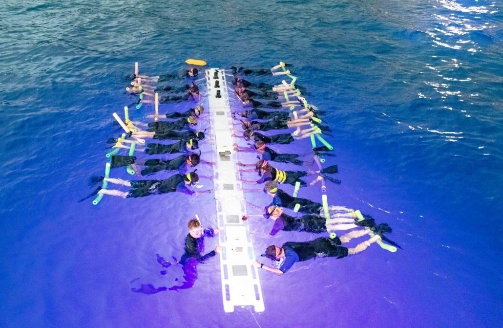 Manta Ray Night Diving Guests Kona Big Island