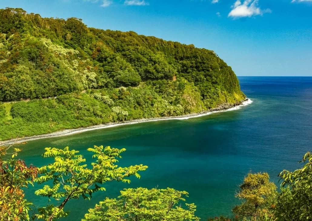 Road to Hana Cliffs Maui