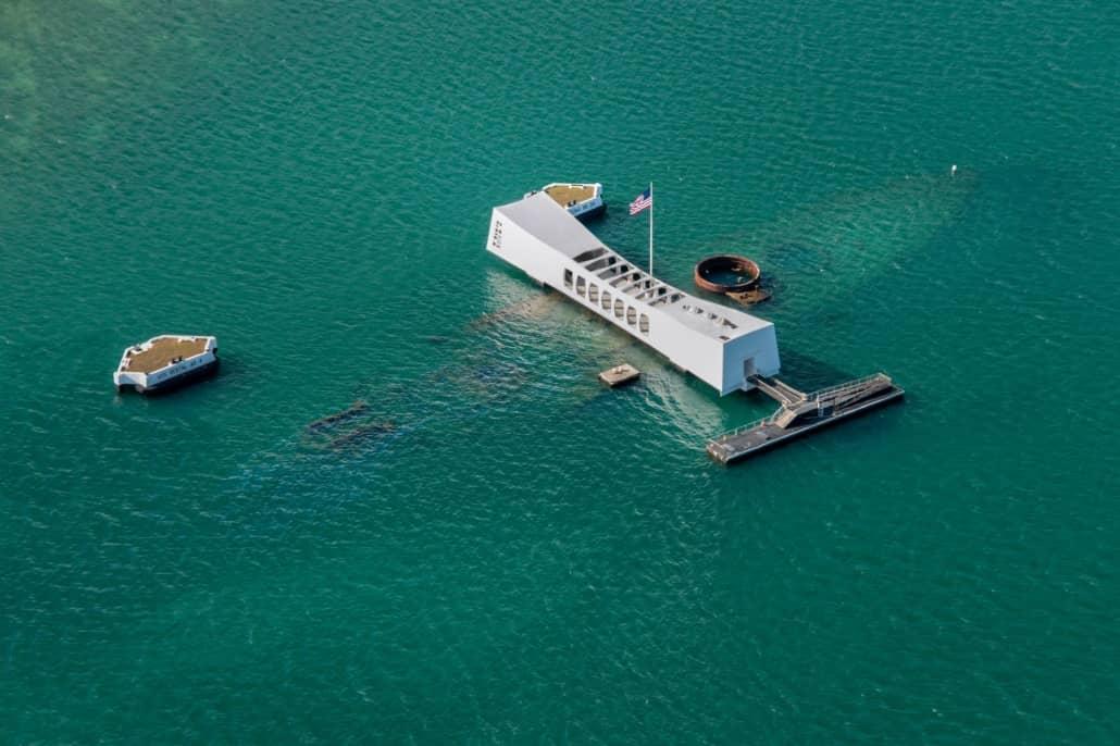Arizona Memorial Aerial Pearl Harbor Oahu