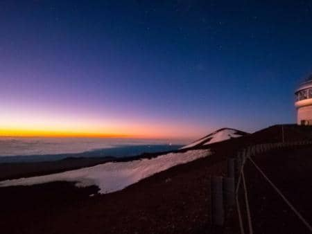 Hawaii Forest and trail Mauna Kea Sunrise