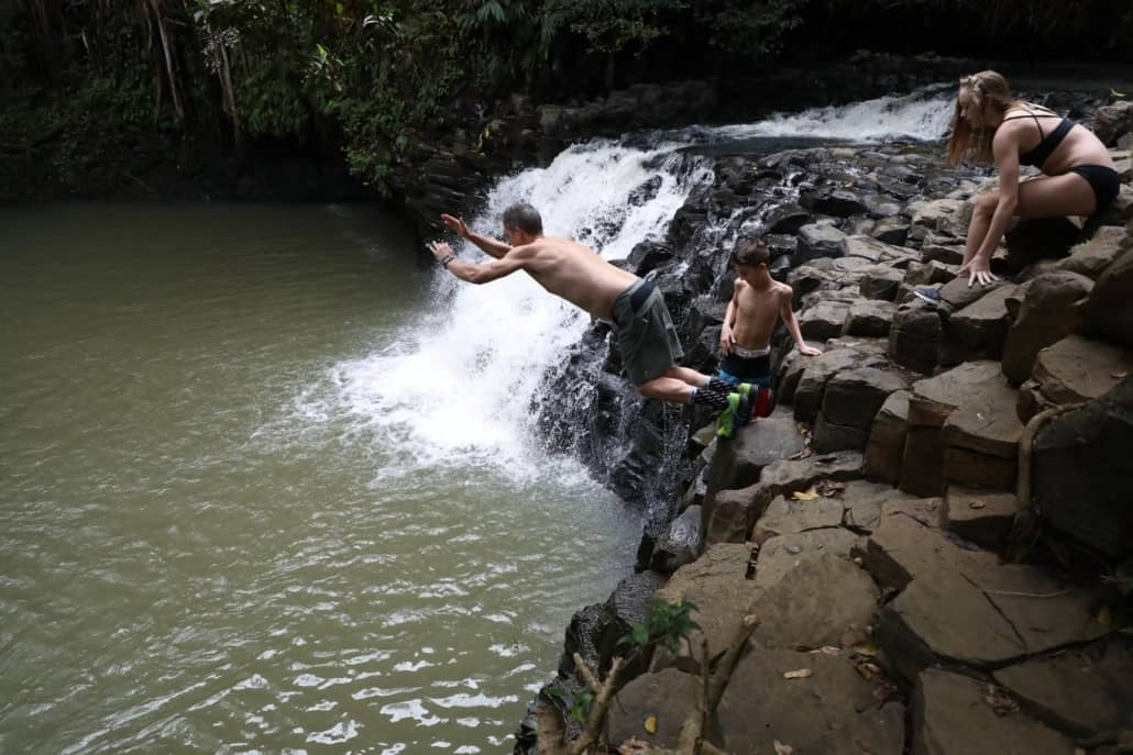 Short waterfalls walk jump