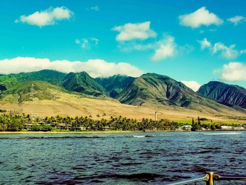 Lahaina and West Maui from Boat shutterstock