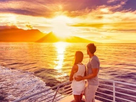 Sunset Boat Cruise Couple shutterstock