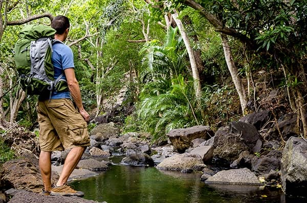 Hiker in Oahu Hawaii