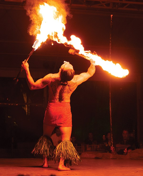 Hawaiian Fire Dancer at Luau