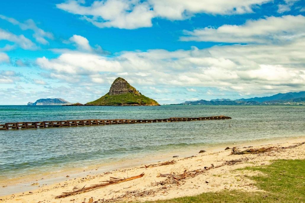 Chinamans Hat Beach and Island Oahu