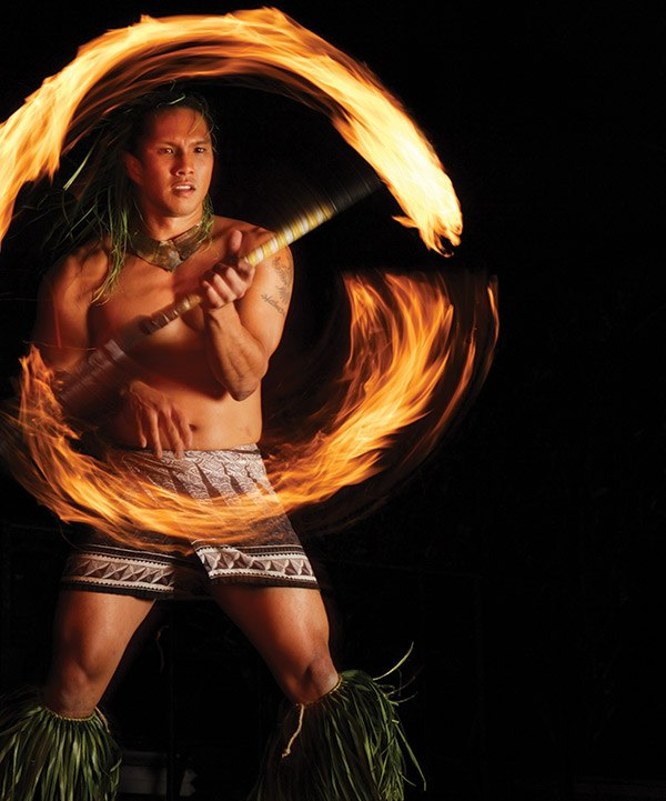 Polynesian Fire Dancing at Luau