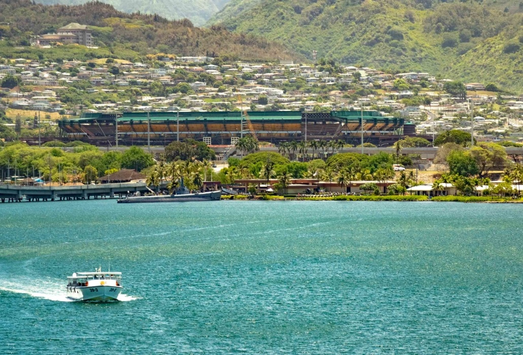 Navy Shuttle Boat and Bowfin Submarine Pearl Harbor Oahu