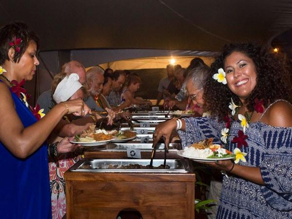 Buffet at Makaiwa Luau