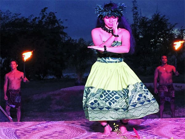 Hula Performer at Luau