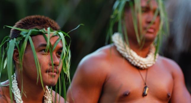 Men Dancing in Smiths Luau