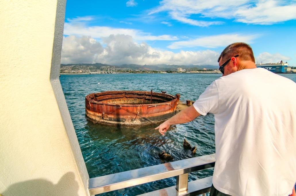 Arizona Memorial Visitor Turret Pearl Harbor Oahu
