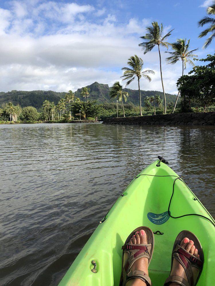 Green Kayak at Rainbow Kayak Tours