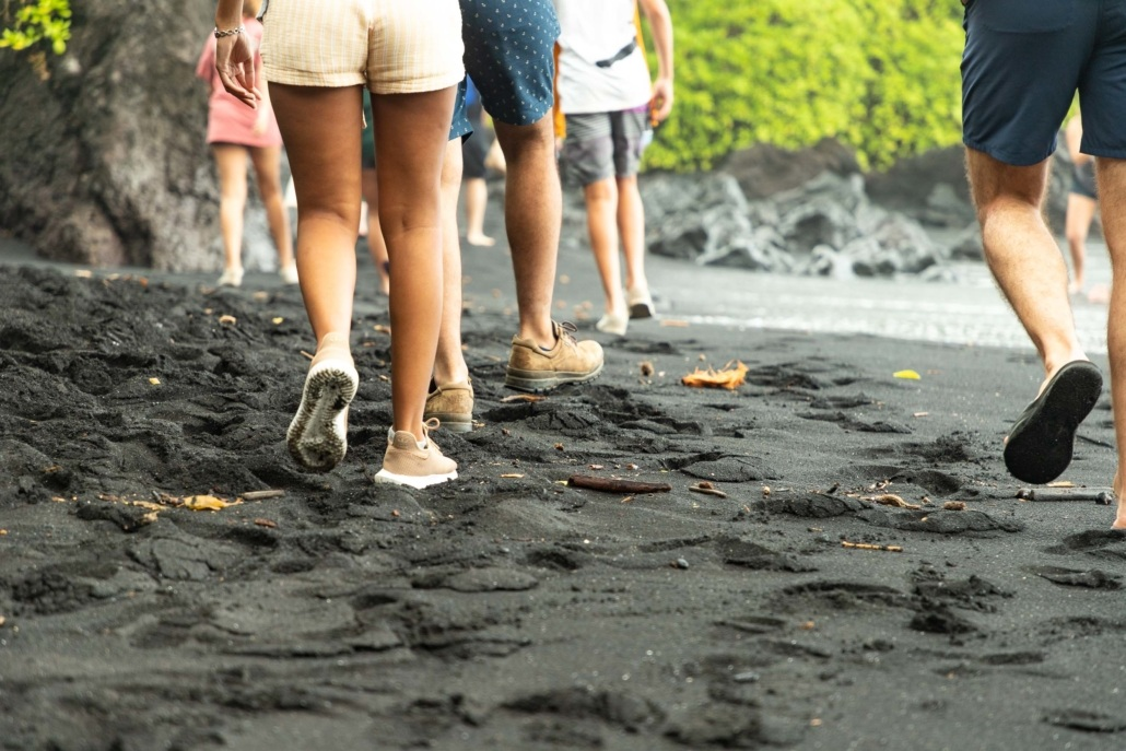 Black Sand Beach Walking Road to Hana Maui