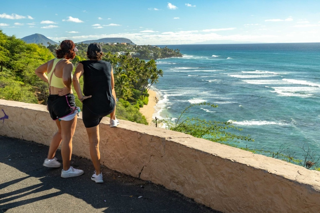 Diamond Head Overlook visitors Honolulu Oahu EX