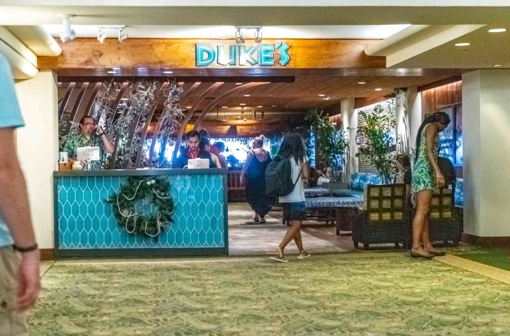 Dukes Restaurant Waikiki entrance