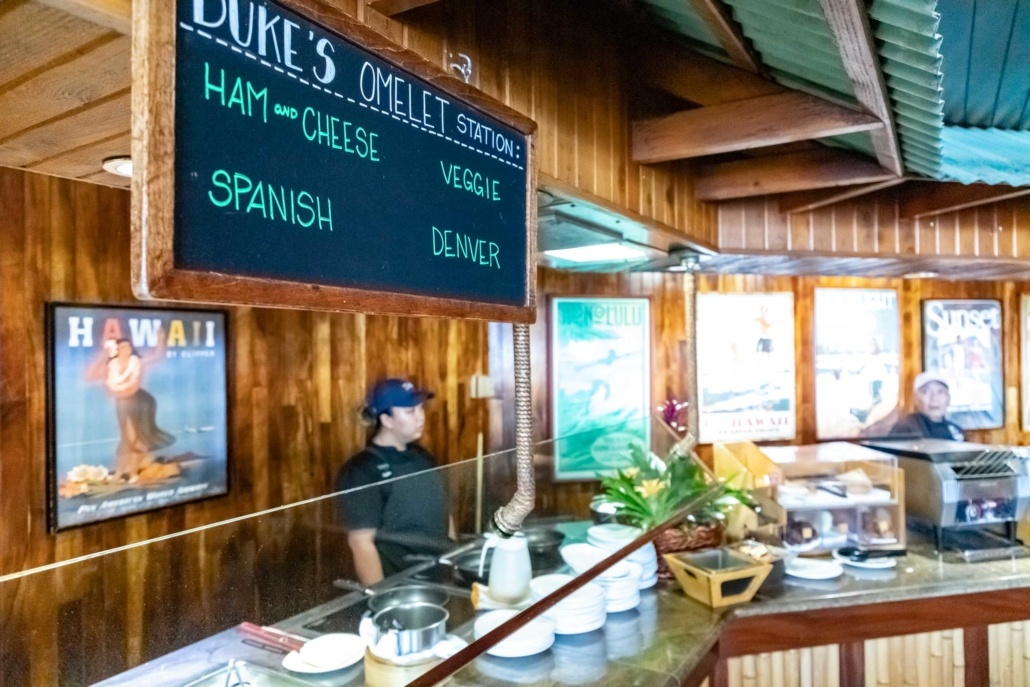 Duke's Waikiki Breakfast Buffet Omlet Station