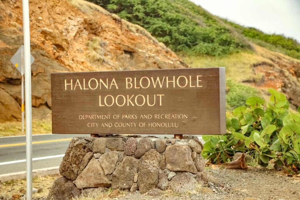 Halona Blowhole Sign Oahu