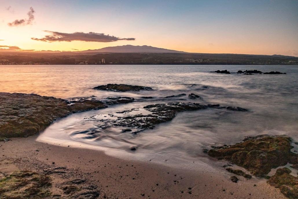 Hilo Bay Sunset and Mauna Kea Big Island