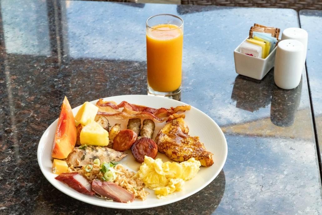 Honus Restaurant Buffet Breakfast Plate Kamehameha Hotel Kona Big Island