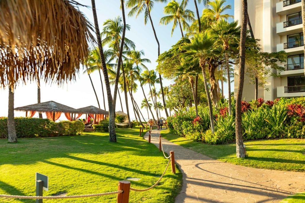 Kaanapali Walkway at Hyatt Hotel Maui