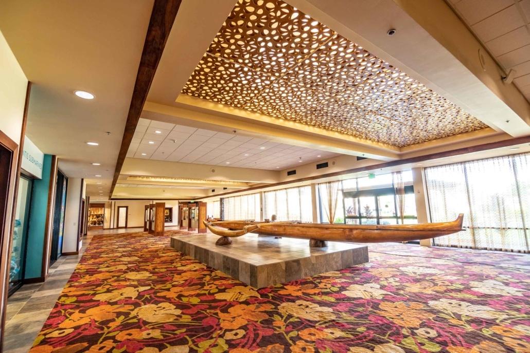 Kamehameha Hotel Lobby Canoe Kona Big Island
