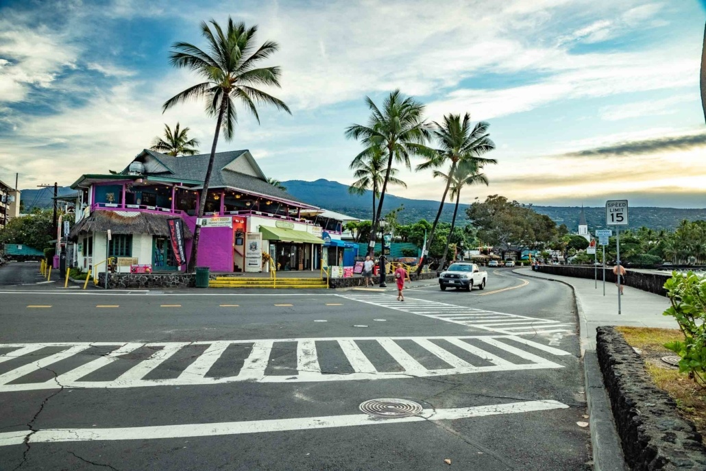 Kona Town Main Street Restaurants Big Island