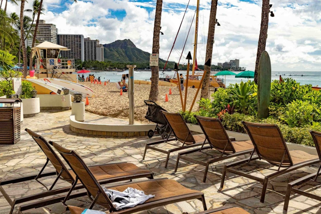 Outrigger Waikiki Hotel Chairs at Pool