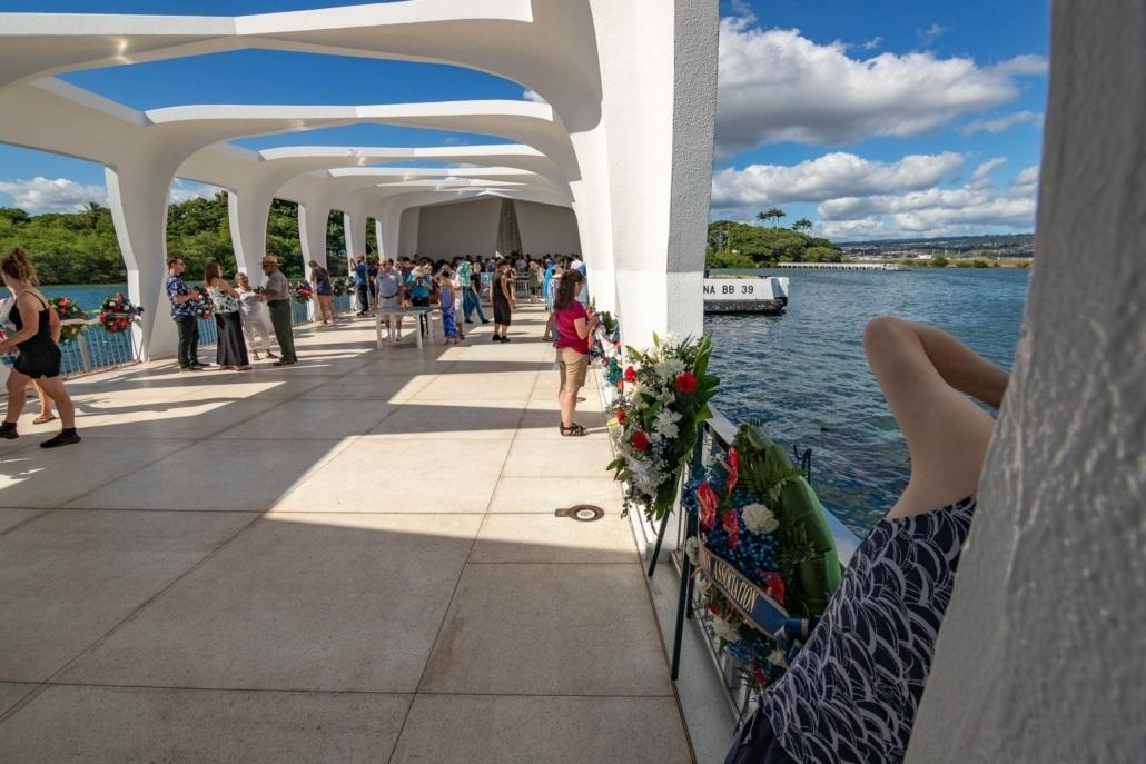 Pearl Harbor Arizona Memorial Deck and Visitors Oahu