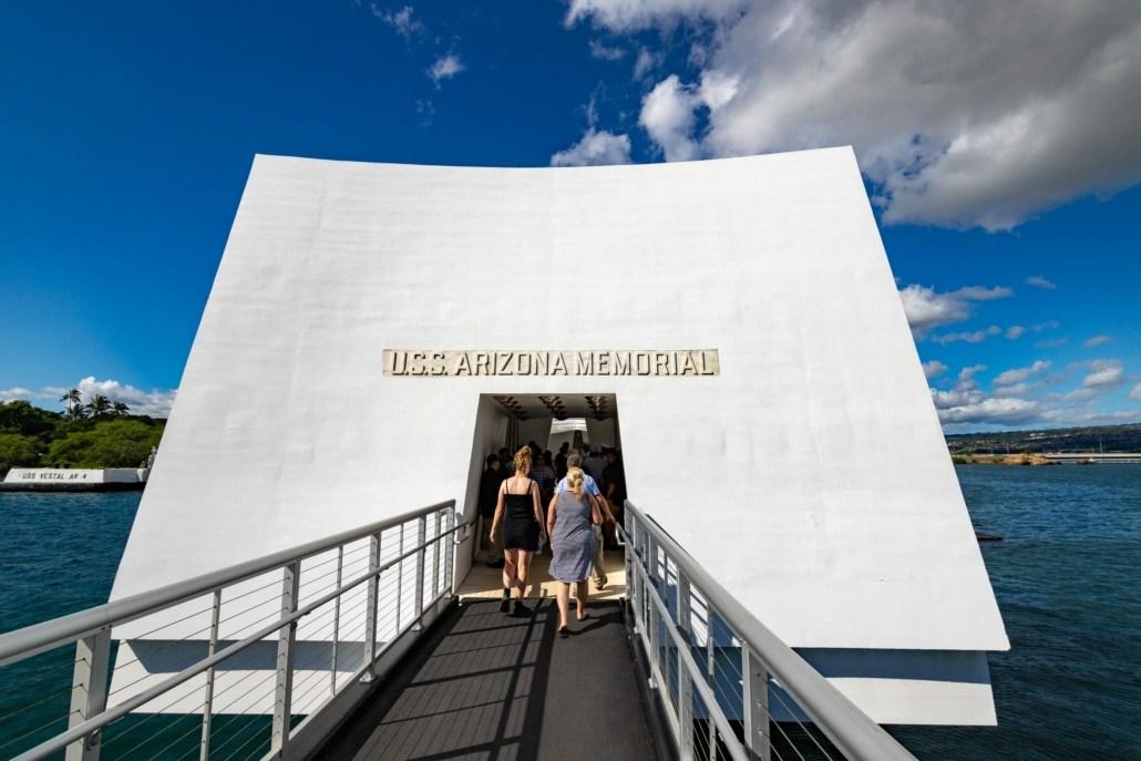 Pearl Harbor Arizona Memorial Entrance Oahu