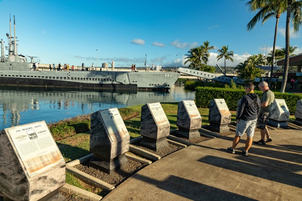 Pearl Harbor Subarine Signs and Bowfin Oahu