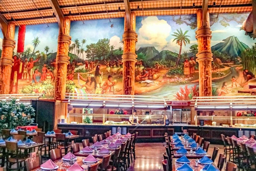 Polynesian Cultural Center Buffet Dining Room Oahu