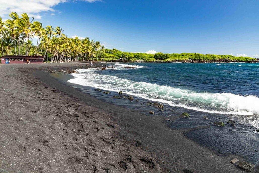 Punalu'u Black Sand Beach Big Island EX