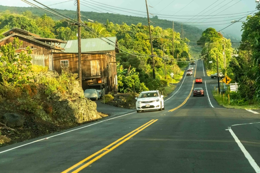 Road View Kona Coast Driving Big Island