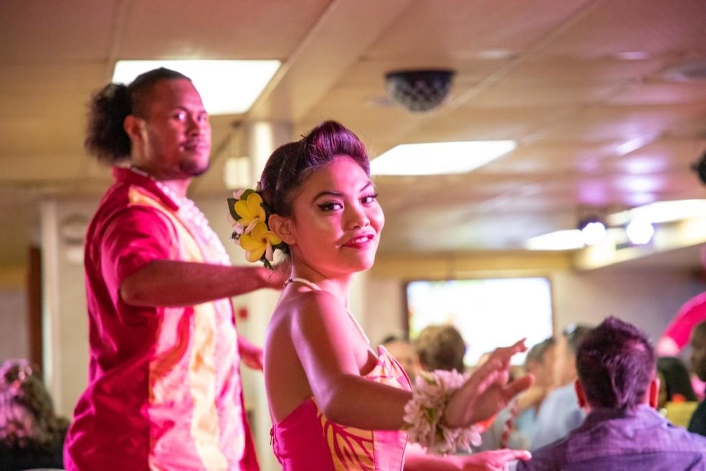 Star Of Honolulu Boat Hula Dancers in Dining Room Oahu