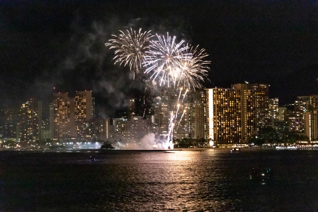 Fireworks Display Fridays Boat Oahu