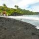 Visitors at Black Sand Beach Road to Hana Maui