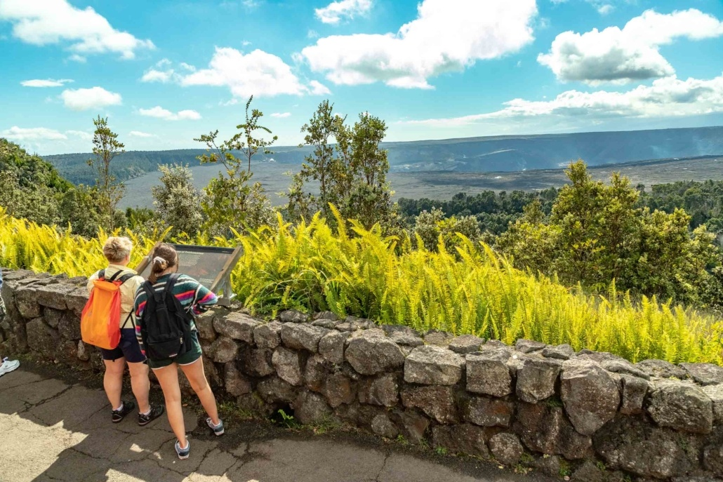 Volcano National Park Kilauea Crater Visitors View from Lodge Big Island