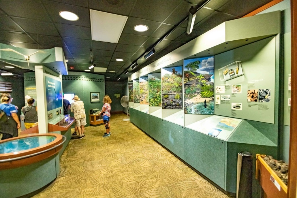 Volcano National Park Kilauea Visitor Center Interior Exhibits Big Island