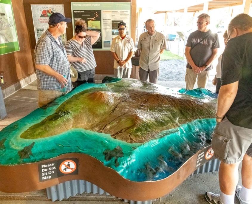 Volcano National Park Kilauea Visitor Center Topo Map Visitors Big Island